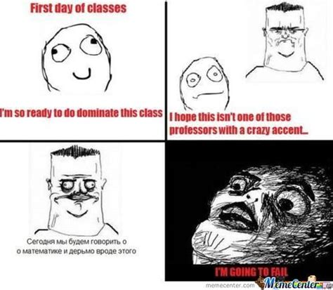 Online Class Meme - first day of classes by drunk meme center