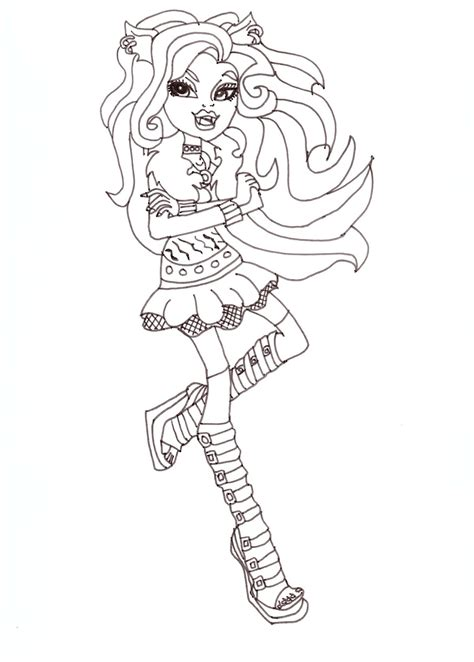 Free Printable Monster High Coloring Pages Clawdeen Clawdeen Wolf Coloring Pages