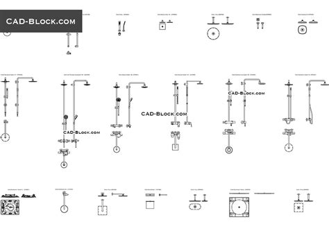 Grohe Kitchen Sink Faucets by Bathroom Showers Autocad Blocks For Free Download