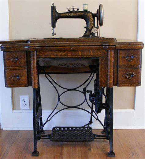 new home antique treadle sewing machine flickr photo