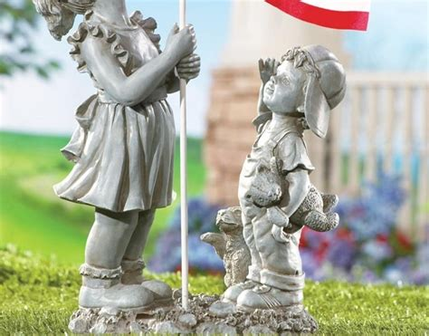 Garden Accents And Statues Outdoor Garden Decor Statues Photograph Flag Americana