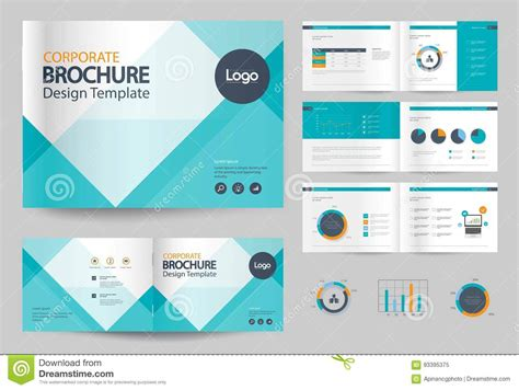 business brochure design template and page layout for