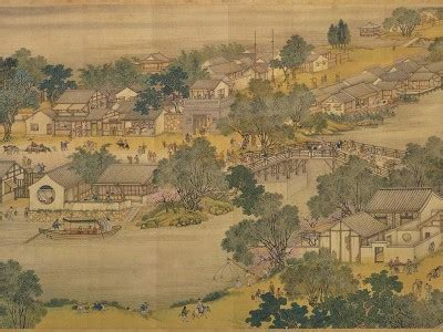 """""""along the river during the qingming festival"""" by zhang"""