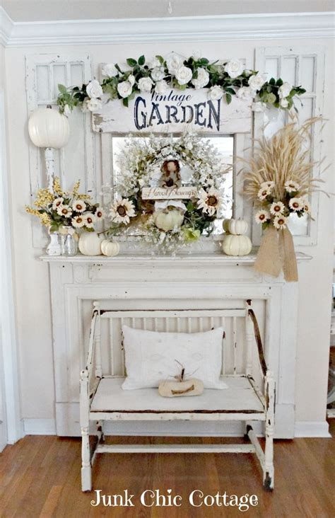 shabby cottage chic junk chic cottage fall is in the air fall decorating