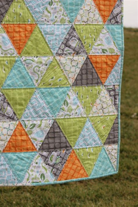 backyard quilts baby boy quilt triangle quilt backyard baby triangle