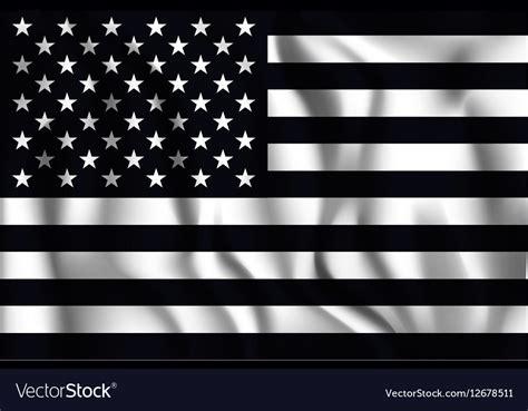 flag white black black and white american flag icon royalty free vector image