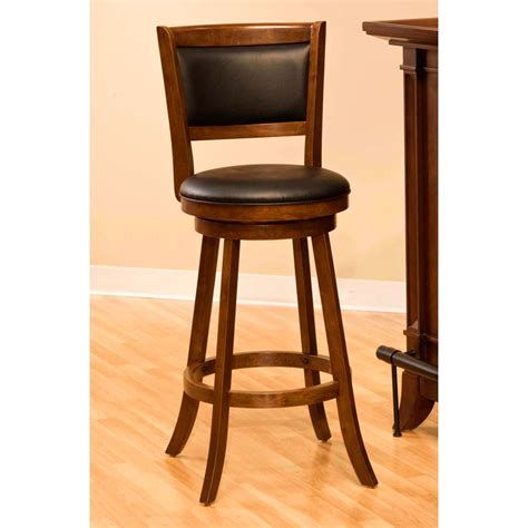 bar stools cherry wood dennery swivel bar stool with cherry wood frame dcg stores
