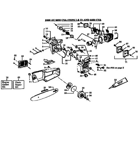 poulan thing chainsaw parts diagram poulan chain saw parts model 2300cva sears partsdirect