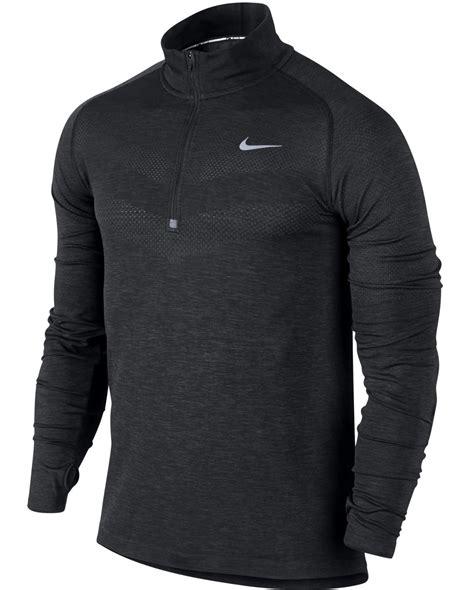 nike dri fit knit half zip new nike dri fit knit half zip grey mens running