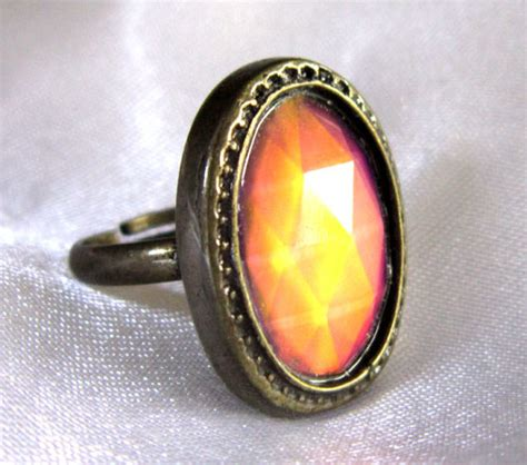 oval mood ring antique bronze look best mood rings