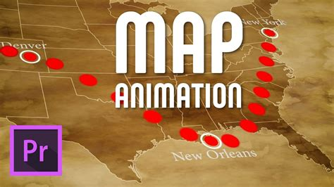 Draw An Animated Travel Line On Map Premiere Pro Free Template Download Youtube Premiere Pro Animation Templates