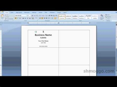 how to template business cards on word printing business cards in word tutorial
