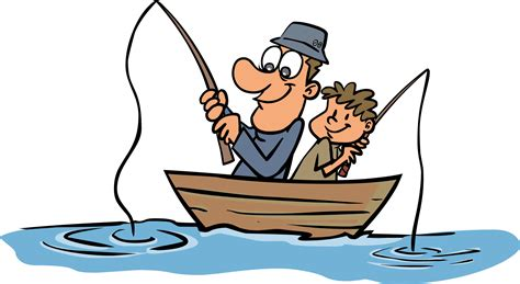fishing clipart go fish pencil and in color fishing
