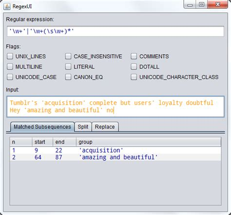 Java Pattern Single Quote | java regex content between single quotes stack overflow