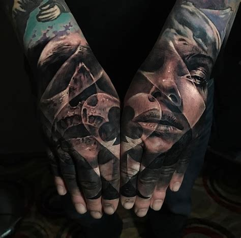 poker double hand tattoo best tattoo design ideas
