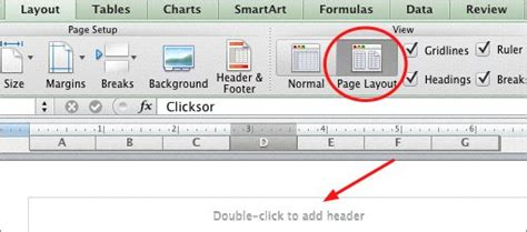 page layout view create a header excel how to add headers and footers to your worksheets