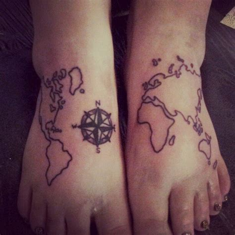 compass gang tattoo map and compass tattoos on feet in 2017 real photo