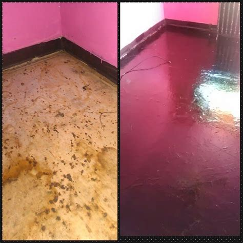 paper bag flooring with stain