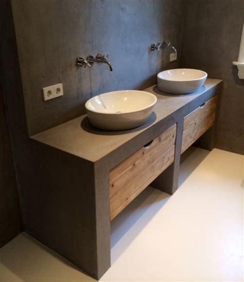 teak meubelen poetsen badkamermeubel beton google zoeken zolder pinterest
