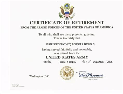 certification letter for retirement navy retirement certificate template images certificate