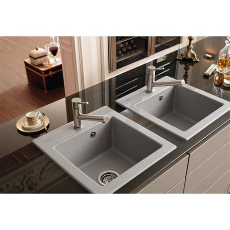 Inset Ceramic Kitchen Sinks Villeroy Boch Subway Xs 475mm X 510mm Single Bowl Universal Premiumline Ceramic Inset Kitchen