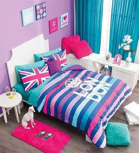 turquoise and pink comforter details about new girls teens aqua turquoise pink purple