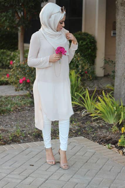 Gamis Flora 3 item fashion bertema putih yang dapat anda gunakan