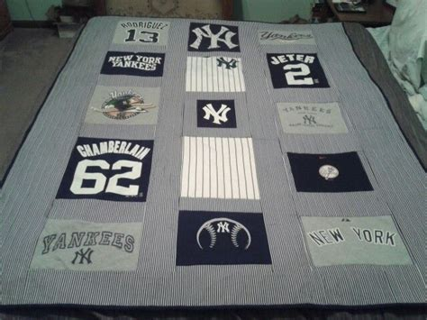 New York Yankees Quilt by New York Yankees Tshirt Quilt