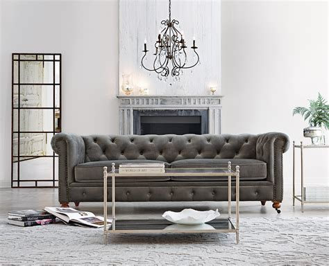 Tufted Sofa Living Room Our Favorite Gordon Tufted Sofa Now Comes In Grey Velvet Just In Time For Fall
