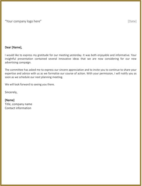 best business thank you letter sles to stay professional
