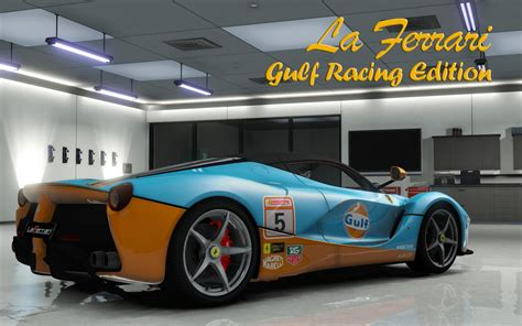 gulf racing ferrari laferrari 2013 gulf racing gta5 mods com