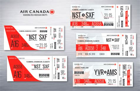 air canada boarding pass redesign concepts by emily carr of design tickets