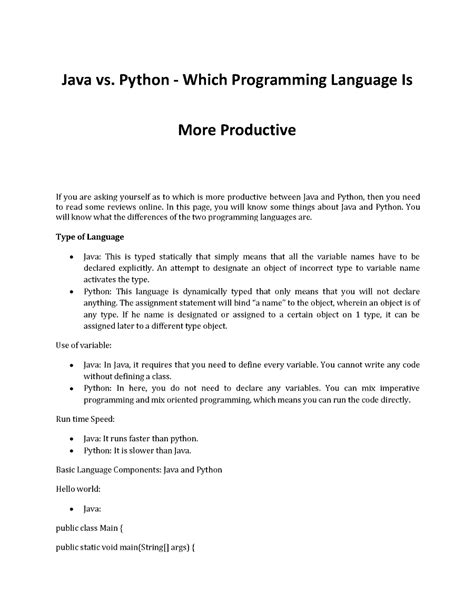 python for the busy java developer the language syntax and ecosystem books which programming language for better productivity java