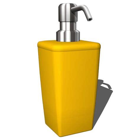 Dispenser Miyako 3 In 1 Bathroom Yellow Set 3d Model Formfonts 3d Models Textures