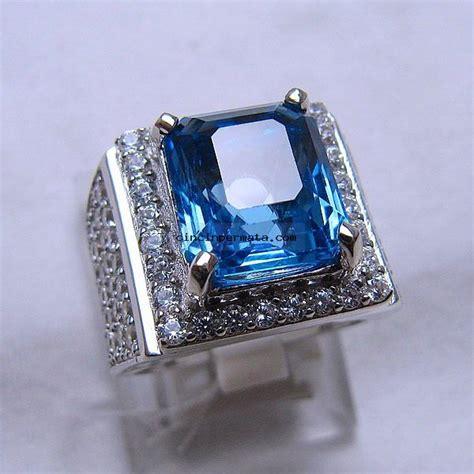 Batu Topaz batu cincin permata sparkling blue topaz