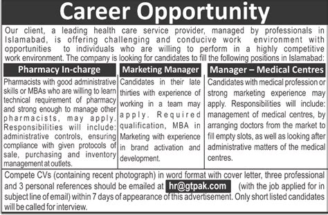 Mba In Health Management In Islamabad by Pharmacists Marketing Manager In Islamabad 2014