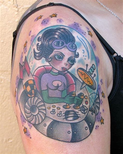 flying saucer tattoo flying saucer purr