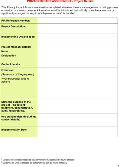 privacy impact assessment template privacy impact assessment template for free