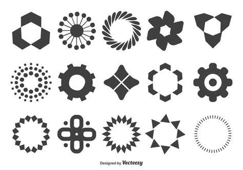 geometric shape set download free vector art stock