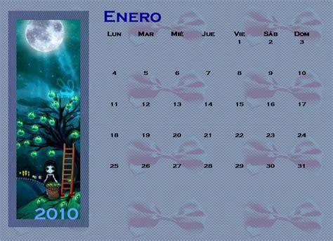 Calendario Enero 2009 Enero 2010 El Gatito Amarillo