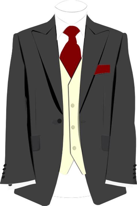 suit clipart grey suit burgundy tie clip at clker vector clip