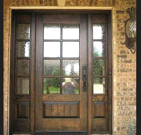 Wood Front Doors With Glass Exterior Wooden Doors With Glass Panels Interior Home Decor