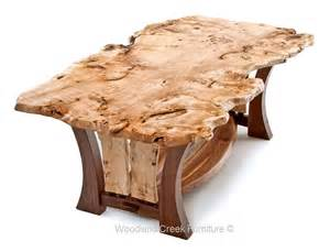 9 Pieces Dining Room Sets craftsman table with burl slab modern dining table unique