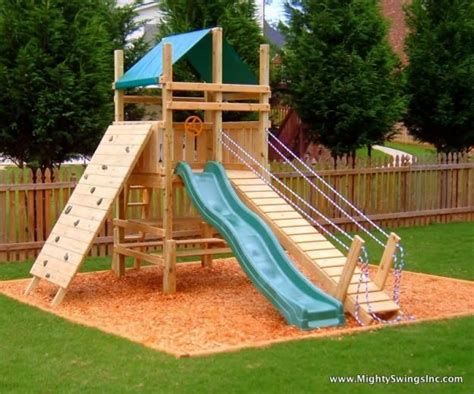backyard slide plans the bridge is a cool idea for harper so she could go down