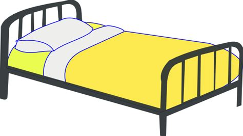 art bedding single bed clip art at clker com vector clip art online royalty free public domain