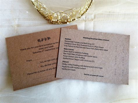 Wedding Invitations Rsvp Card In Envelope by Menu Rsvp Cards And Envelopes Wedding Stationery
