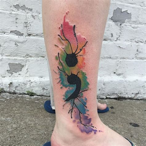 watercolor tattoos cons 17 best images about thigh tats on semicolon