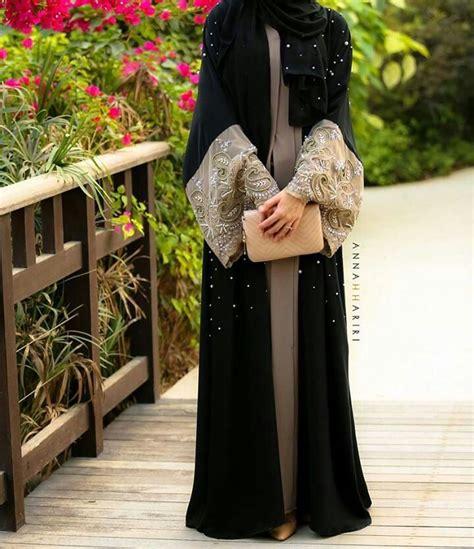 Abaya Gitar By Zainab Collection fancy lace abaya designs collection 2015 2016 12