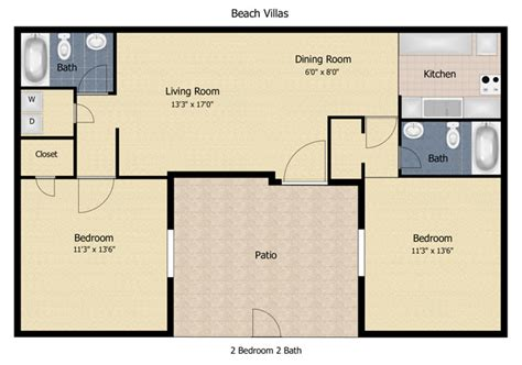 2 bedroom 2 bath apartment floor plans 2 bedroom 2 bath apartment floor plans 28 images