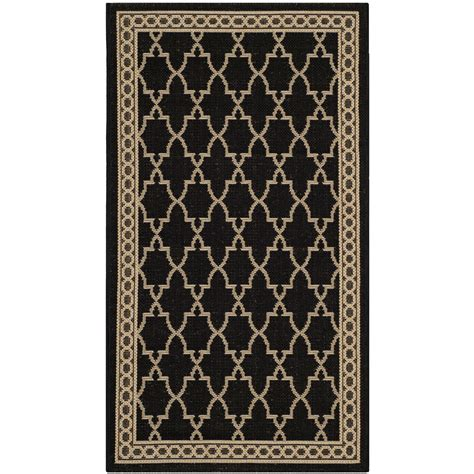 rugs black safavieh courtyard black sand checked area rug reviews wayfair